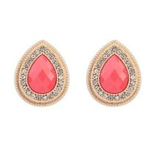 Candy Color Drop #Zircon #Crystal 18k #Gold Plated #Earrings  #krissylovesbling #fashion