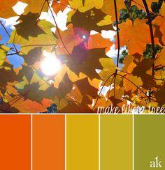 fall-leaves-inspired color palette