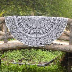 White Elephant Ashoka Large Roundie - Pom Pom Border