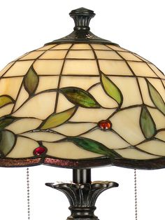 Dale Tiffany Table Lamp, Donavan - Table Lamps - for the home - Macy's Stained Glass Chandelier, Stained Glass Light, Stained Glass Designs, Stained Glass Patterns, Mosaic Glass, Glass Art, Tiffany Table Lamps, Candle Lamp, Tiffany Glass