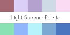 color analysis light summer palette