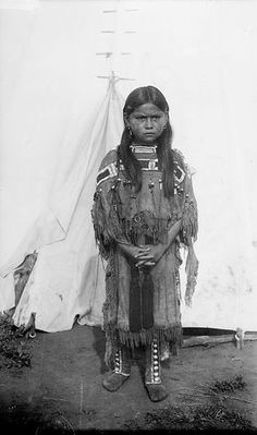 Woonardy Parker, daughter of Quanah Parker, 1892