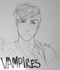 greatmageclintbarton:  I'm not saying it's vampires, but… Little Simon doodle this morning. Maya Coler: I wish I could just doodle this. My master pieces are stick figures