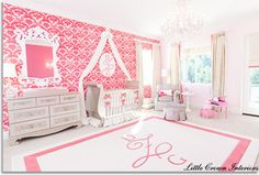 Luxurious Nursery in Orange County Residence by Little Crown Interiors - traditional - kids - orange county - by Little Crown Interiors