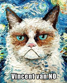 Grumpy Grumpy Cat  (♪♫ Click the enlarged image to hear the music ♪♫)