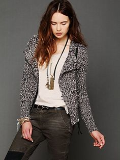 Salt And Pepper Motorcycle Jacket. http://www.freepeople.com/whats-new/salt-and-pepper-motorcycle-jacket/
