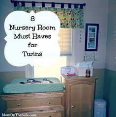 8 Must Haves for a Nursery Room for Twins that will make Twin Parenting easier! Raising Multiples can be a challenge but a great Twin Nursery Room can help! Nursery Twins, Nursery Room, Nursery Ideas, Disney Nursery, Elephant Nursery, Twin Cribs, Baby Cribs, Twin Mom, Twin Babies