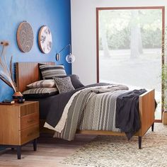 Reede Bed | west elm $999 King Bed. $299.99 night stand $699.99 Dresser.