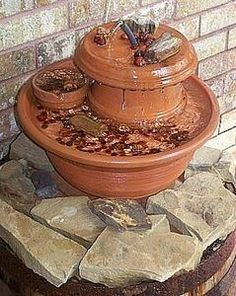 How to Make a Clay Pot Fountain | eHow.com