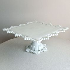 Square Westmoreland cake plate <3
