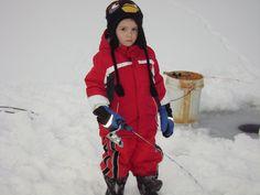 my favorite guy Hayden.  Ice fishing in the frigid north of Michigan