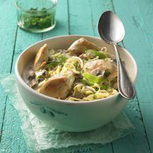 Thai-Suppe mit Huhn