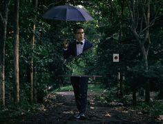 Conceptual photography portrait umbrella