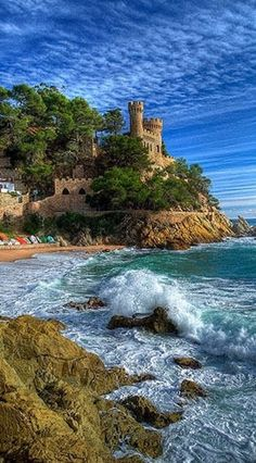 Castle of Sant Joan in Lloret de Mar on the Costa Brava in Spain #tophats #lloretdemar