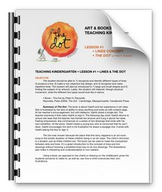 shannon christensen art & books lesson plan for kindergarteners • the dot book