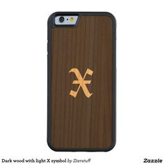 Dark wood with light X symbol Carved® Cherry iPhone 6 Bumper