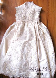 Christening Dress from Wedding Gown by WyldChicBoutique on Etsy, $1.00