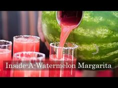 """""""Inside a Watermelon"""" Margaritas – Fresh & Perfect For A Crowd – White on Rice Couple"""