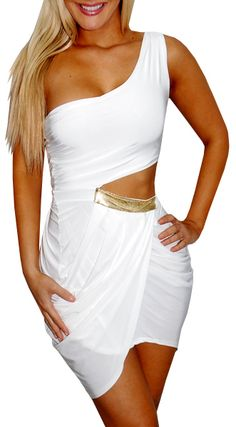 Toss The Key (White)-Great Glam is the web's top online shop for trendy clubbin styles, fashionable party dress and bar wear, super hot clubbing clothing, stylish going out shirt, partying clothes, super cute and sexy club fashions, halter and tube tops,