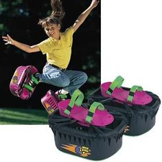 Moon shoes! The quickest way to a sprained ankle if you weren't careful.I know from experience.