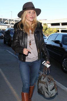 Taking Flight: Hayden Panettiere headed out of LA Monday.