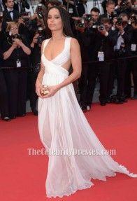 Zoe Kravitz Sexy Evening Dress 68th annual Cannes Film Festival Red Carpet TCD6073