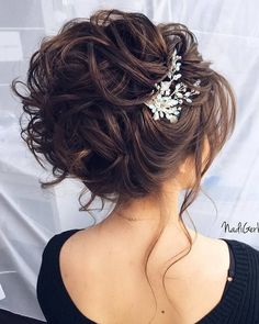 35 Stuning Long Curly Wedding Hairstyles from Nadi Gerber – Hair Styles Prom Hair Updo, Curly Wedding Hair, Elegant Wedding Hair, Wedding Hair And Makeup, Bridal Hair, Wedding Hairstyles For Long Hair, Bride Hairstyles, Cool Hairstyles, Hairstyle Ideas