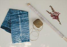 Indigo dyed napkins - Shibori dye method - Spindle Photography