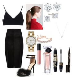 """Untitled #124"" by sdesir on Polyvore featuring T By Alexander Wang, River Island, Urban Outfitters, Rolex, Links of London, Bare Escentuals, Lancôme, Max Factor and Smith & Cult"
