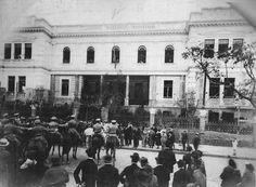 Inauguração da Escola Normal de Curitiba, em 22 de setembro de 1922. Atual Instituto de Educação do Paraná.
