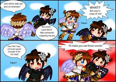 Kid Icarus Uprising: Copycat by purplemagechan on deviantART hey! Sonic and Shadow say basically the exact same thing in sonic adventure 2 battle! I bet they copied that too!