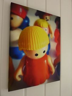 photo canvas of favorite toy! awesome idea for either a boy or girl, playroom or nursery! #urbansqueak