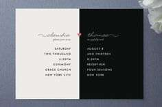 minted wedding invitation, my other half, nocciola design