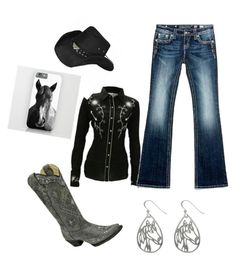 """""""Rodeo ready🐴"""" by torie-richards ❤ liked on Polyvore featuring beauty, Miss Me and Carolina Glamour Collection"""