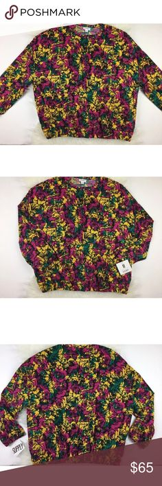 LuLaRoe Supply Medium Bomber Jacket Cabbage Roses LuLaRoe Supply Bomber Jacket - Medium - new with Tags  Not sold to the public. ** I am not a consultant ** Cabbage Roses perfect Disney match for LuLaRoe Long sleeve zip front - elastic stretch bottom hem Purple, yellow, green, black I ship Monday - Friday , same or next business day USPS scans A132 LuLaRoe Jackets & Coats