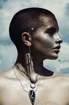 Pamela Love Silver Dagger Earrings, Mini Tribal Pendant, Small Tribal Pendant, and Obsidian Arrow Necklace Fall Lookbook, Bone Jewelry, Body Adornment, Pamela Love, Beautiful Mask, People Photography, Boho, Character Inspiration, Writing Inspiration