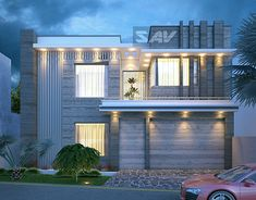 "Check out new work on my @Behance portfolio: ""modern house facade"" http://be.net/gallery/60459213/modern-house-facade"
