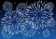 Vector brilliant fireworks (4)
