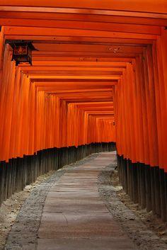 """伏見稲荷神社(Fushimi inari Shrine), Kyoto Japan (Do you recognize this from """"Memoirs of a Geisha?"""")"""