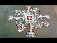 Rangoli Designs Flower, Rangoli Designs Images, Rangoli Designs With Dots, Rangoli With Dots, Beautiful Rangoli Designs, Simple Rangoli, Padi Kolam, Kolam Rangoli, Alpona Design