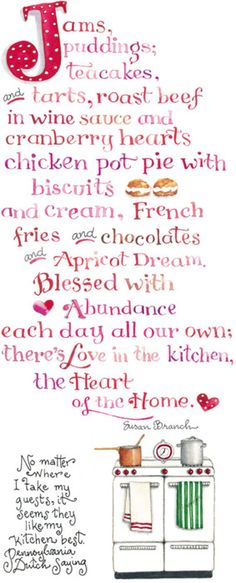 ~ Love in the Kitchen - The Heart of the Home