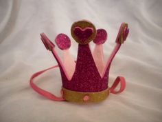 Pink and Gold Crown Queen of Hearts Mini Tiny by artforahome, $20.00