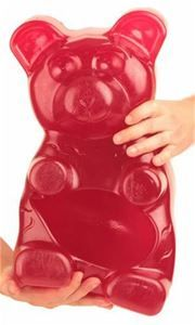 Move over 5 Pound Gummy Bear, Big Ol' Bear aka B. is now the world's largest gummy bear. Each order is handmade and weighs an intimidating 27 pounds, Giant Candy, Baby Doll Accessories, Unicorn Party, Unicorn Surprise, Gummy Bears, Bubblegum Pink, Candyland, Free Coloring, Raspberry