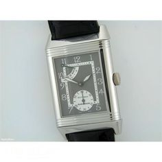 Gents Jaeger LeCoultre reverso power reserve platinum manual on strap #watches #fashion #jeweller #JaegerleCoultre