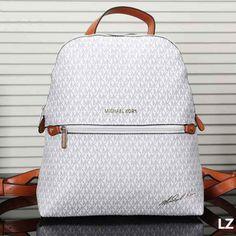 MK Women Casual Shoulder School Bag Cowhide Leather Backpack