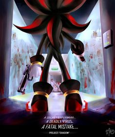 Tags: Anime, Ari1020, Sonic the Hedgehog, Shadow the Hedgehog, Gore, Biohazard (Parody), Handgun