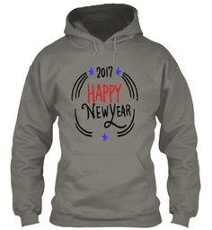 Happy New Year 2017  T Shirt Charcoal Sweatshirt Front