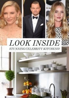 Take a look inside these stunning celebrity kitchens.