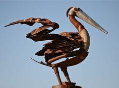 Pelican sculpture