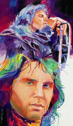 Jim Morrison of The Doors fame. A painting by David Lloyd Glover Jim Morrison Poster, Rock N Roll, Mass Culture, Riders On The Storm, Play That Funky Music, American Poets, People Of Interest, Punk, Concert Posters